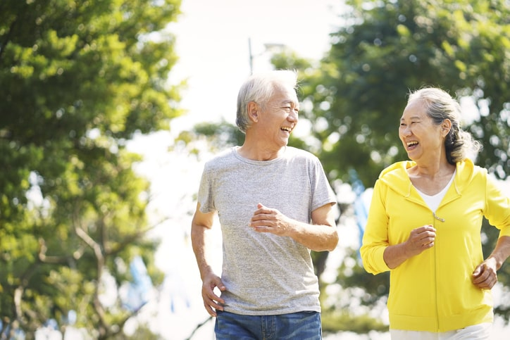Elderly exercising to keep their heart healthy